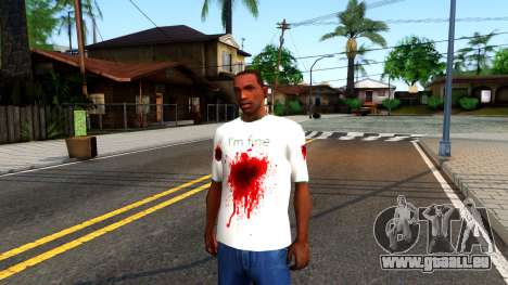 White I am Fine T-Shirt pour GTA San Andreas