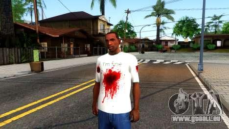 White I am Fine T-Shirt pour GTA San Andreas