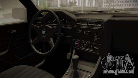BMW M3 E30 Edit v1.0 pour GTA San Andreas vue intérieure