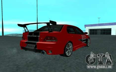 Mitsubishi Lancer Evolution VII für GTA San Andreas linke Ansicht