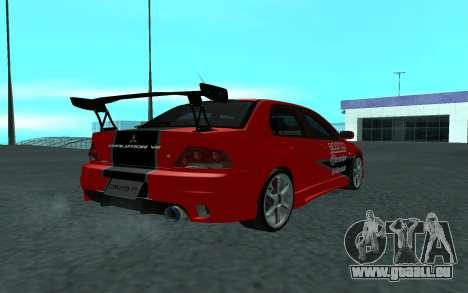 Mitsubishi Lancer Evolution VII für GTA San Andreas linke Ansicht