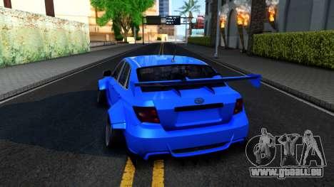 Subaru WRX STi Widebody pour GTA San Andreas sur la vue arrière gauche