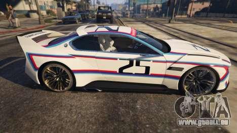 GTA 5 BMW 3.0 CSL Hommage R Concept linke Seitenansicht