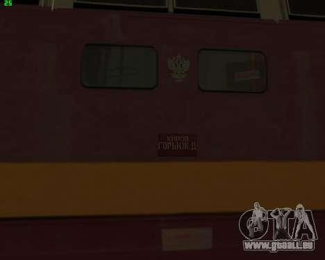Passenger locomotive CHS4t-521 pour GTA San Andreas vue arrière