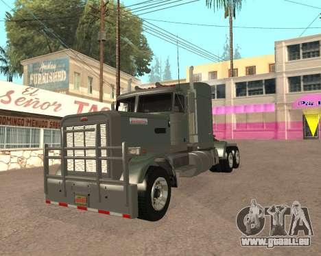 Dude Road Train pour GTA San Andreas vue de droite