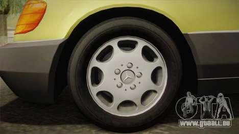 Mercedes-Benz 500SE 1991 v1.1 pour GTA San Andreas sur la vue arrière gauche