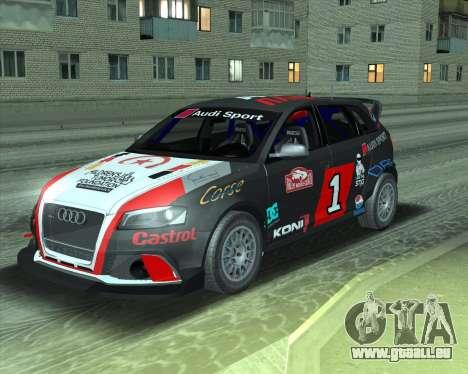 Audi RS3 Sportback Rally WRC pour GTA San Andreas vue arrière