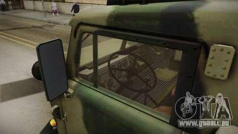 BM-27 Uragan (9P140) für GTA San Andreas Rückansicht