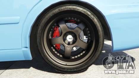 GTA 5 Toyota Chaser (JZX100) v1.1 [add-on] hinten rechts