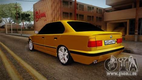 BMW 5-er E34 pour GTA San Andreas laissé vue