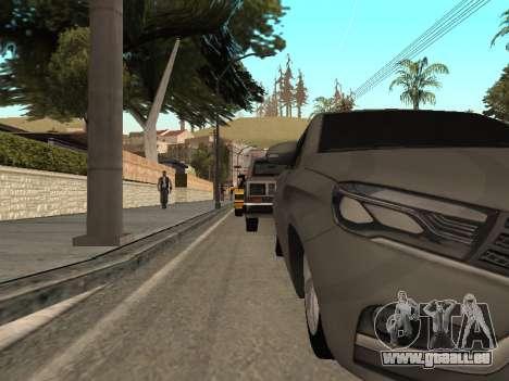 LADA Vesta BPAN für GTA San Andreas Innenansicht