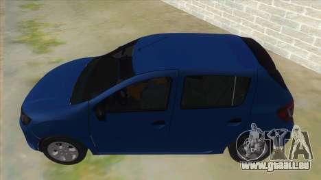 2016 Dacia Sandero pour GTA San Andreas laissé vue