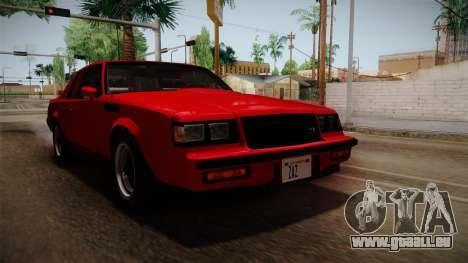 Buick GNX 1987 pour GTA San Andreas vue de droite