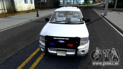 Ford Expedition SAST CVE 2008 pour GTA San Andreas laissé vue