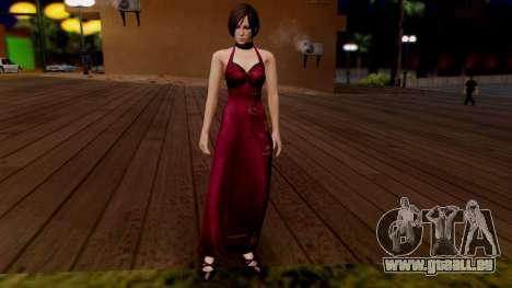 Resident Evil 6 - Ada Dress pour GTA San Andreas deuxième écran