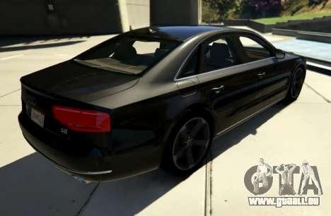 GTA 5 2010 Audi A8 FSI v4.0 hinten links Seitenansicht