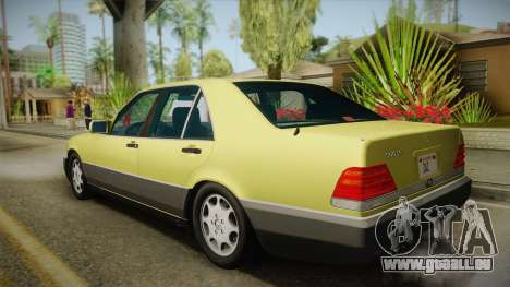 Mercedes-Benz 500SE 1991 v1.1 pour GTA San Andreas laissé vue