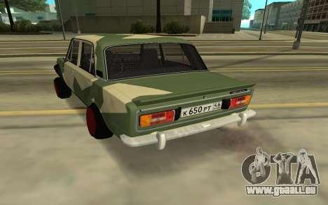 VAZ 2103 BATAILLE CLASSIQUE pour GTA San Andreas laissé vue