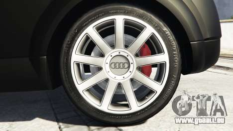 GTA 5 Audi TT (8N) 2004 v1.1 [replace] arrière droit vue de côté