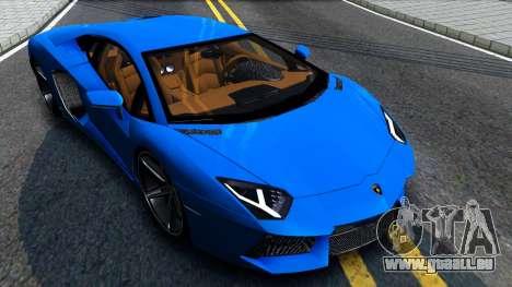 Lamborghini Aventador LP700-4 Light Tune pour GTA San Andreas vue de droite