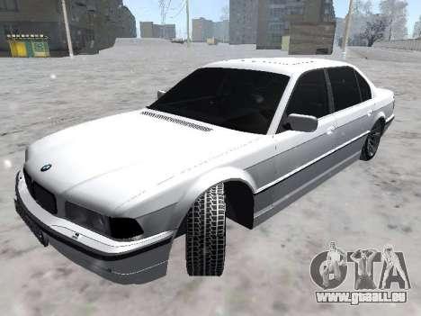 BMW 740I für GTA San Andreas zurück linke Ansicht