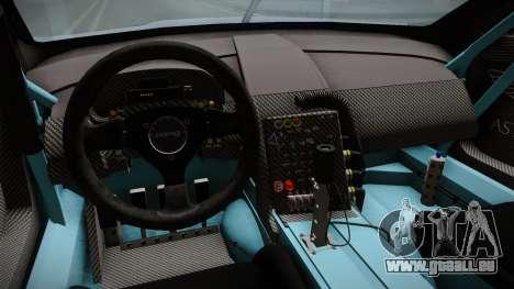 Aston Martin Racing DBR9 2005 v2.0.1 pour GTA San Andreas vue intérieure