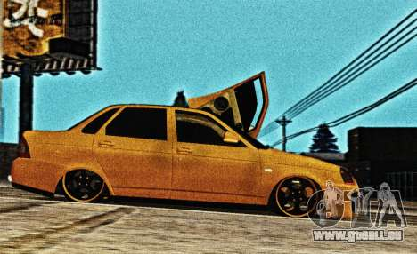 Lada Priora Tuning pour GTA San Andreas laissé vue