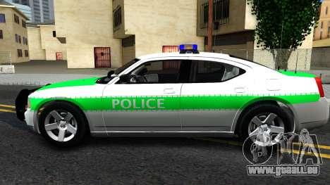 Dodge Charger German Police 2008 pour GTA San Andreas laissé vue