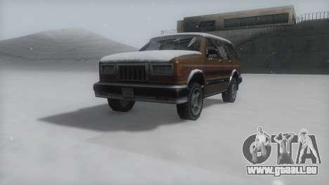 Landstalker Winter IVF pour GTA San Andreas vue de droite