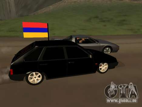 VAZ 2109 Armenian pour GTA San Andreas laissé vue