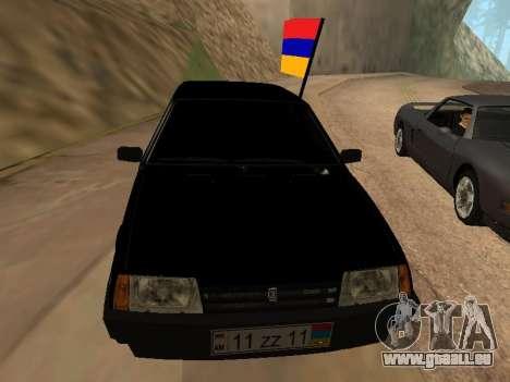 VAZ 2109 Armenian pour GTA San Andreas vue arrière