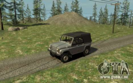 УАЗ 469 (Paul Black prod.) pour GTA 4 Vue arrière
