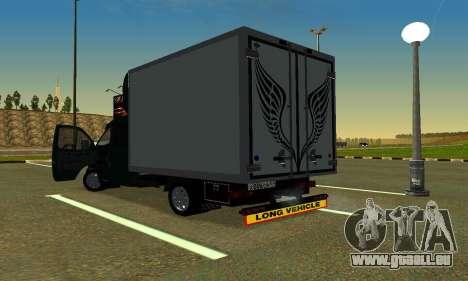 Gazelle Farmer v2 pour GTA San Andreas sur la vue arrière gauche