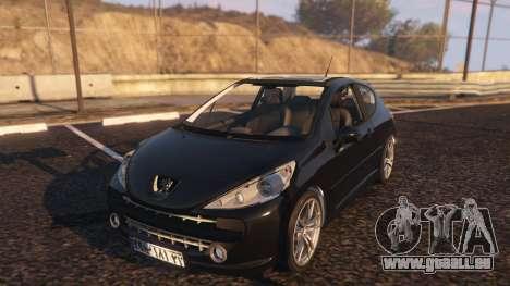 GTA 5 Peugeot 207 vue arrière
