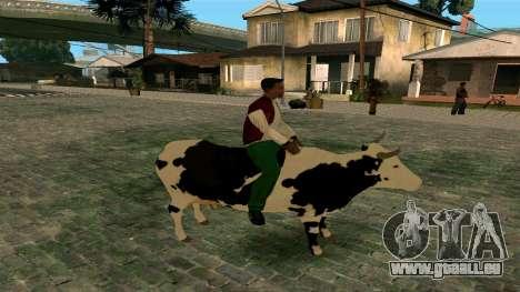 À cheval sur la vache pour GTA San Andreas deuxième écran