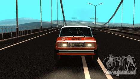 VAZ 2105 patch 3.0 pour GTA San Andreas sur la vue arrière gauche