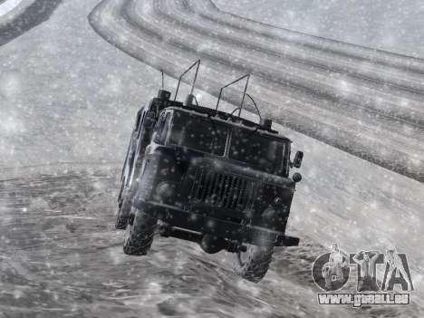 GAZ-66 pour GTA San Andreas sur la vue arrière gauche