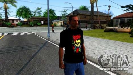 Bullet For My Valentine T-shirt für GTA San Andreas zweiten Screenshot
