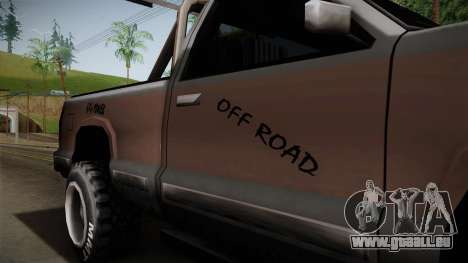 Yosemite Off-Road pour GTA San Andreas vue arrière