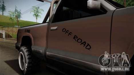 Yosemite Off-Road für GTA San Andreas Rückansicht