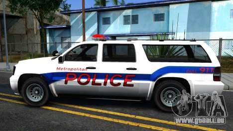 Declasse Granger Metropolitan Police 2012 für GTA San Andreas linke Ansicht