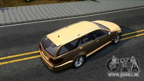 GTA V Benefactor Schafter Wagon pour GTA San Andreas vue arrière