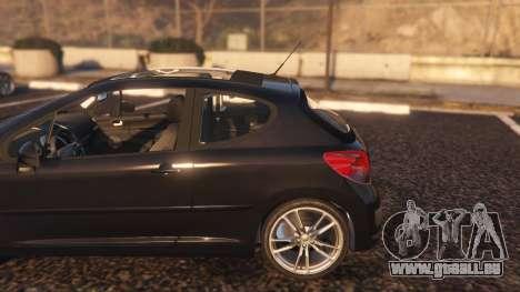 GTA 5 Peugeot 207 hinten rechts