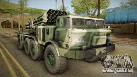 BM-27 Uragan (9P140) für GTA San Andreas