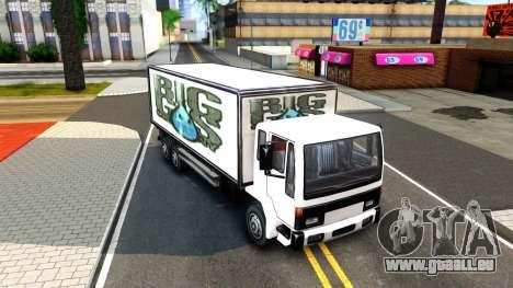 DFT-30 Box Truck für GTA San Andreas linke Ansicht