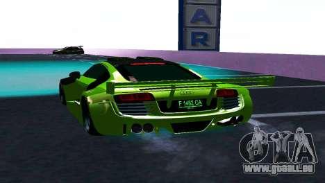 AUDI R8 LMS SPORTS für GTA San Andreas rechten Ansicht