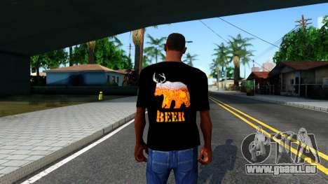 Black Beer T-Shirt pour GTA San Andreas troisième écran