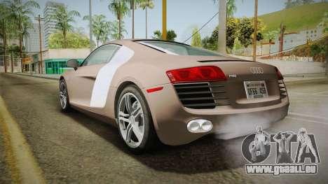Audi R8 Coupe 4.2 FSI quattro US-Spec v1.0.0 v4 für GTA San Andreas linke Ansicht