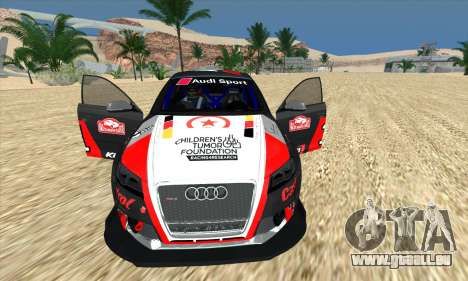 Audi RS3 Sportback Rally WRC pour GTA San Andreas vue de dessous