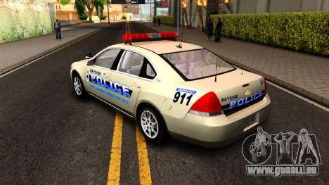 2007 Chevy Impala Bayside Police pour GTA San Andreas vue de droite